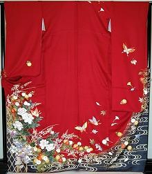 【レンタル】振袖レンタル【赤・ピンク・赤紫系】【RF744】標準/L寸/7号/9号/11号/13号/秋のキャンペーン