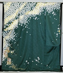 【レンタル】振袖レンタル 2002 【青・青紫・緑系】【RS818】標準 L寸 7号 9号 11号 13号