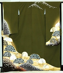 【レンタル】振袖レンタル【青・青紫・緑系】【RS805】標準/L寸/7号/9号/11号/13号