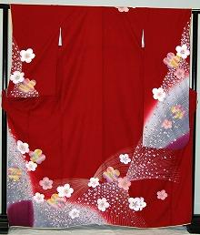 【レンタル】振袖レンタル【赤・ピンク・赤紫系】【RS312】標準 小柄 S寸 M寸 7号 9号 11号 13号