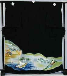 【レンタル】【貸衣裳】 rt37new:時代絵 留袖 【貸衣装】秋のキャンペーン