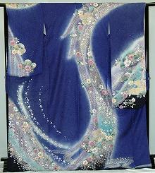 【レンタル】振袖レンタル【青・青紫・緑系】【RS802】標準/L寸/7号/9号/11号/13号