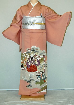 Campaign of the it403 salmon pink doll pattern rental colored formal kimono autumn