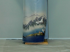 Campaign of the [colored formal kimono rental] rental colored formal kimono it415 blue gray Tsurugi beginning of fall