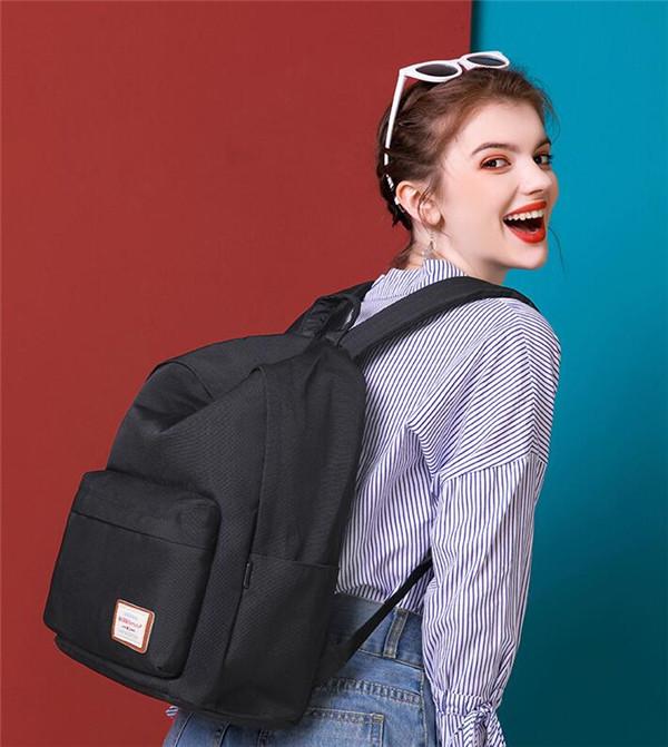 ブラック リュックサック 贈物 レディース バックパック 2021春新作 リュック A4 大容量 多ポケットディパック backpack 5☆好評 パック 黒 旅行 カバン 通学 学生 お出かけ
