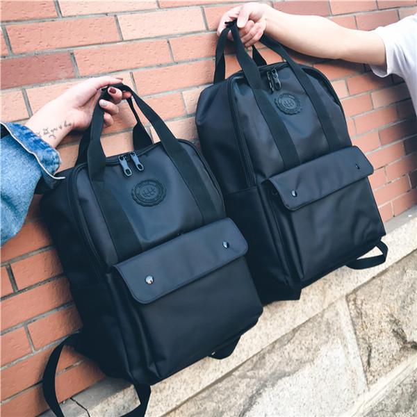 ペアルック リュックサック 2020 レディース メンズ バック A4 大容量 ポケット backpack ブラック ハンドバック 男女兼用 大きい 手上げ 発売モデル リュック 黒 山登り 旅行 バックパック カップル