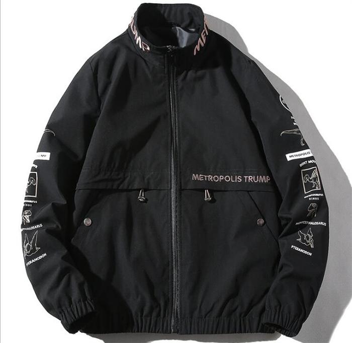 メンズ カジュアル ジャンパー ジャケット 男 コート 大きい 買い取り 春秋 刺繍 ミリタリージャケット ジップアップ 長袖ジャケット ファッション アウター ゆったり バーゲンセール 大きいサイズ