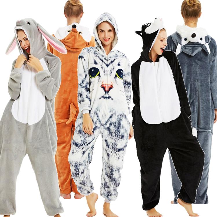 超かわいいジップアップ着ぐるパジャマ 2020新作 メンズ レディース ジップアップ アニマル 犬 着ぐるみ パジャマ つなぎ 冬用 ジュニア 大人気! 暖かい もこもこ コスプレ キッズ 変装 仮装 在庫あり ハロウィーン