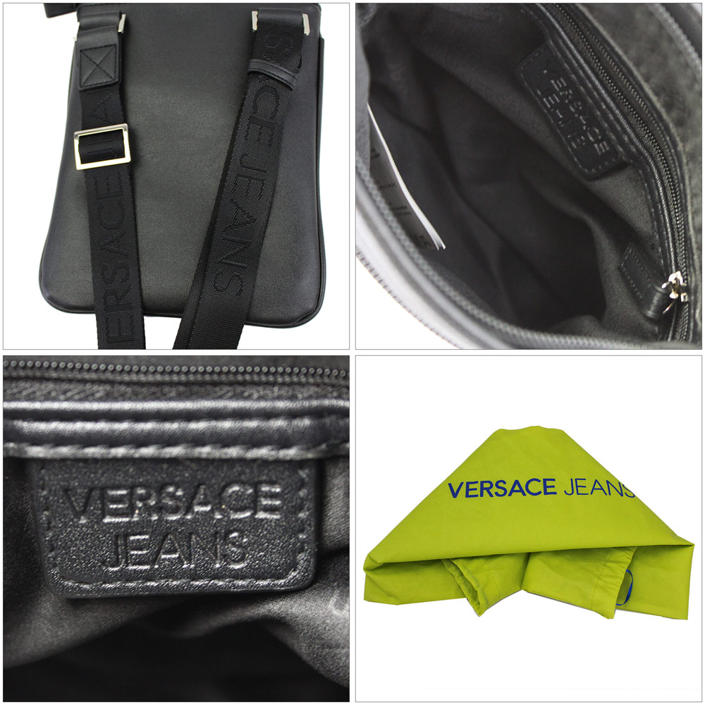 Brand Shop Go Guys  Take Versace jeans slant  shoulder bag men black ... 087a80cbec0d4