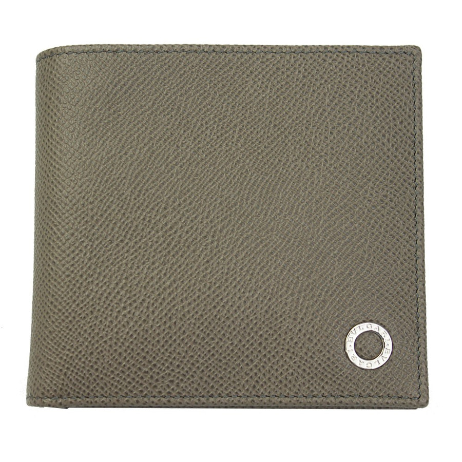 ブルガリ 財布 レザー 30397 BVLGARI 二つ折り財布 メンズ ブルガリ・ブルガリ ストーングレー STONE GREY 30397
