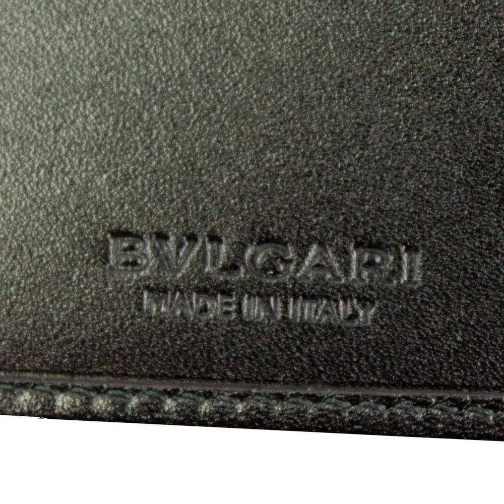 ブルガリ 財布 ブラック/グレー 32581 BVLGARI 二つ折り財布 メンズ ウィークエンド コーティング キャンバス レザー 32581