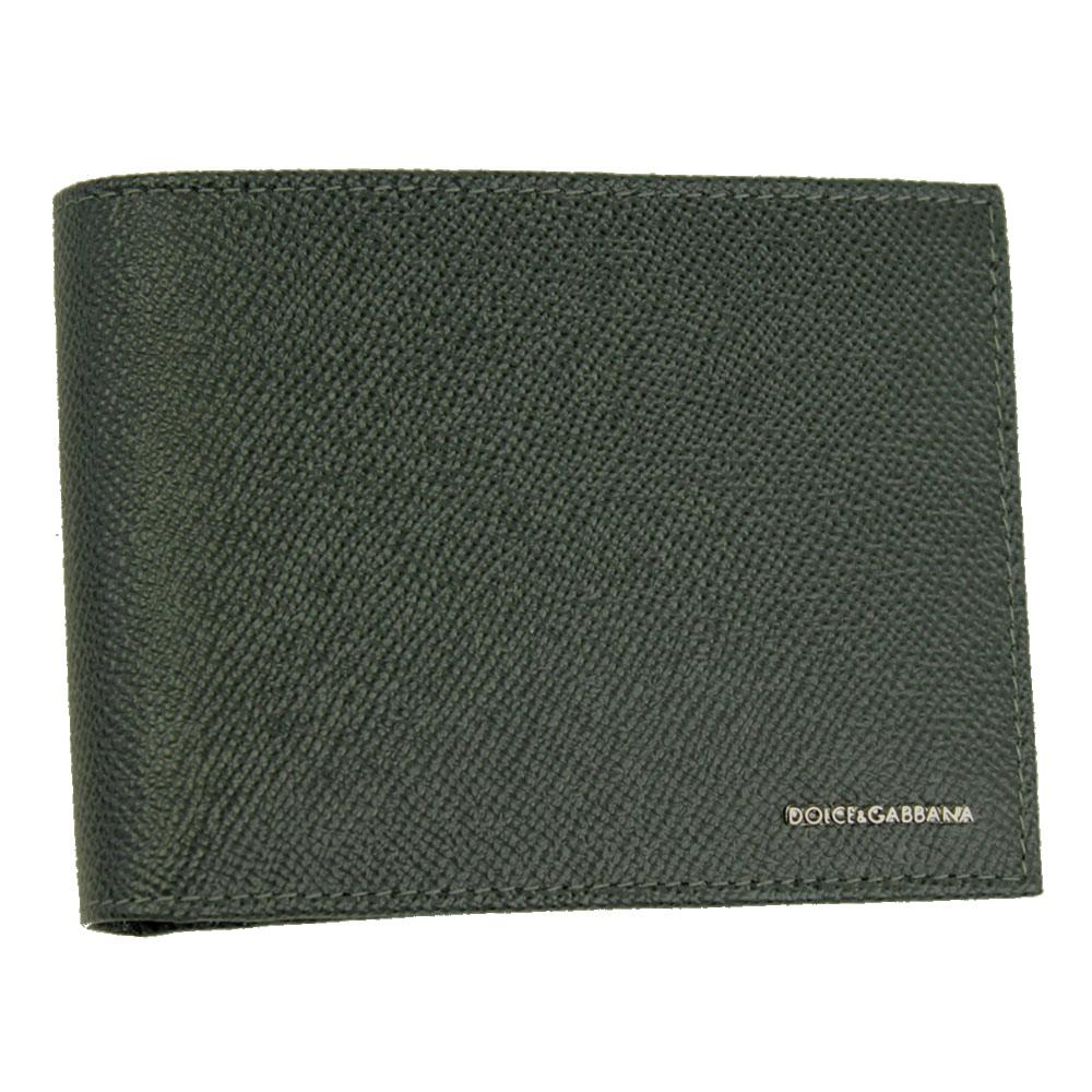 【新品】 【DOLCE&GABBANA】 ドルチェ&ガッバーナ 二つ折り札入れ 財布 メンズ グレー レザー BP0437 B3432 8H708