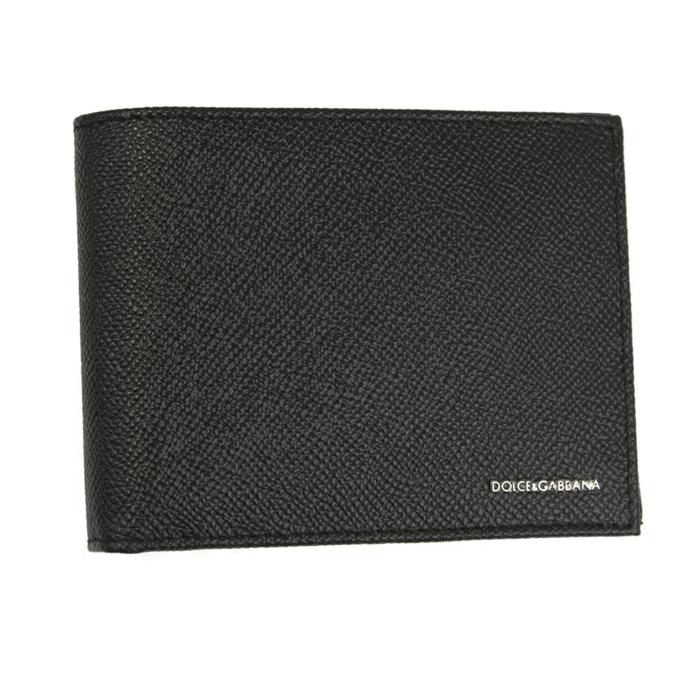 【新品】 【DOLCE&GABBANA】 ドルチェ&ガッバーナ 二つ折り札入れ 財布 メンズ ブラック レザー BP0437 B3432 80999