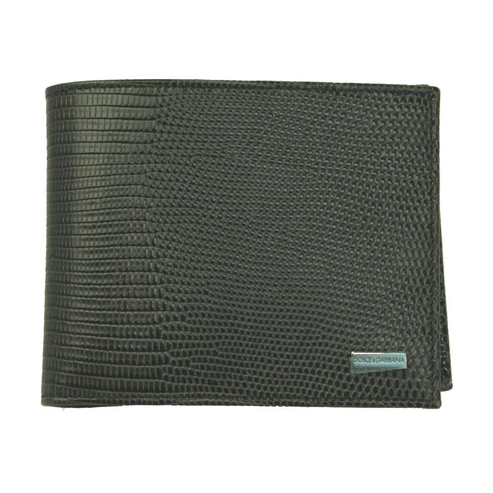 ドルチェ&ガッバーナ 財布 BP0457 DOLCE&GABBANA 二つ折り財布 メンズ 型押しレザー リザード調 グレー 内側マヨリカ柄 BP0457 B5261 80051