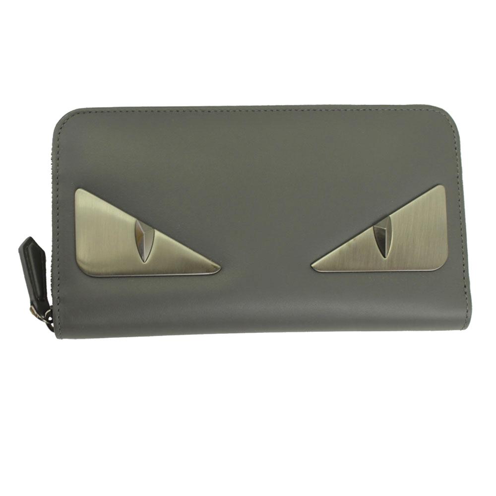 87e2f22fa305 フェンディ 財布 レディース メンズ 7M0210 新品 フェンディ 財布 グレー 7M0210 FENDI ラウンドファスナー長財布 バッグ