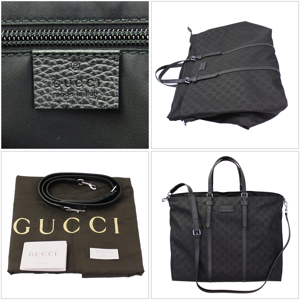 030c5028fd2242 ... Gucci nylonguccishima light Duffle Bag GG pattern black shoulder straps  with 387068 KQF1N1000