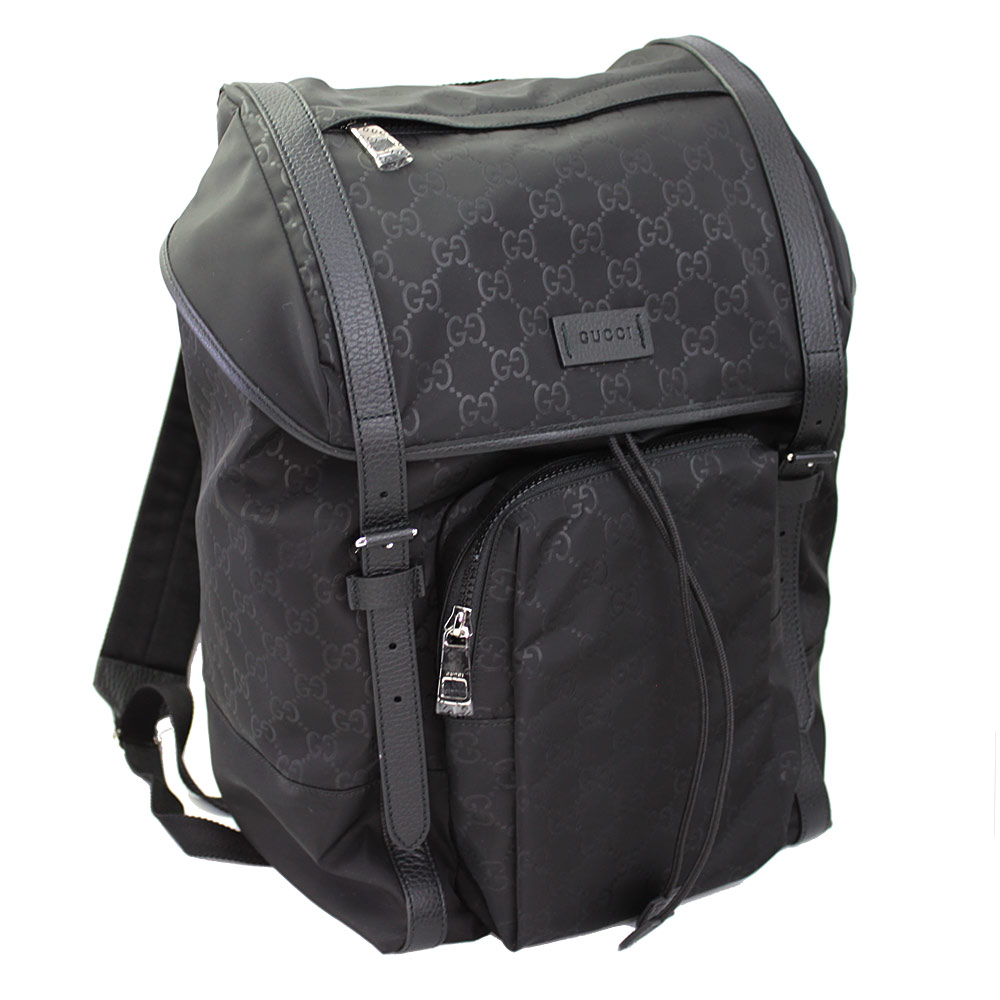 Gucci rucksack nylon Gucci sima right,back pack GG pattern black 387071  KQF2N 1000
