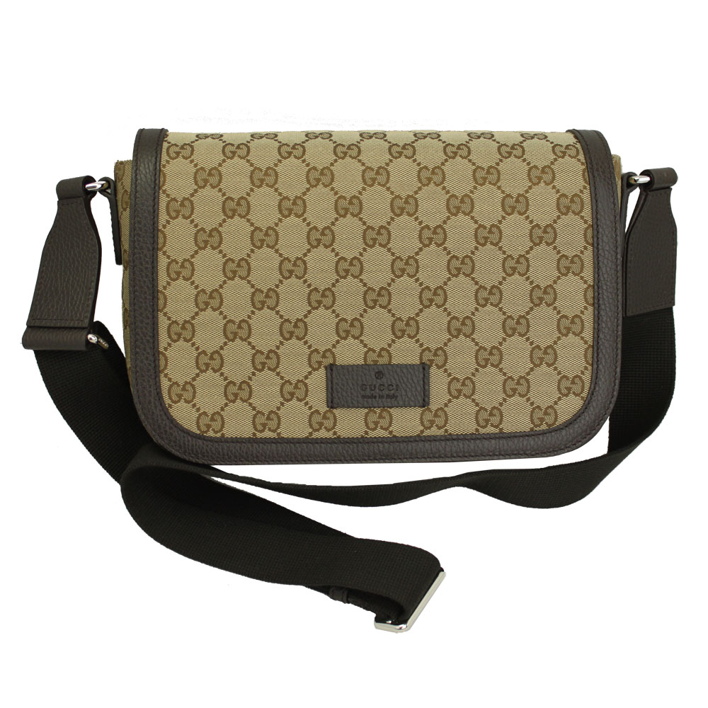 Take Gucci bag 449172 GUCCI outlet slant; shoulder bag GG canvas beige /  dark brown 449172 KY9KN 9886