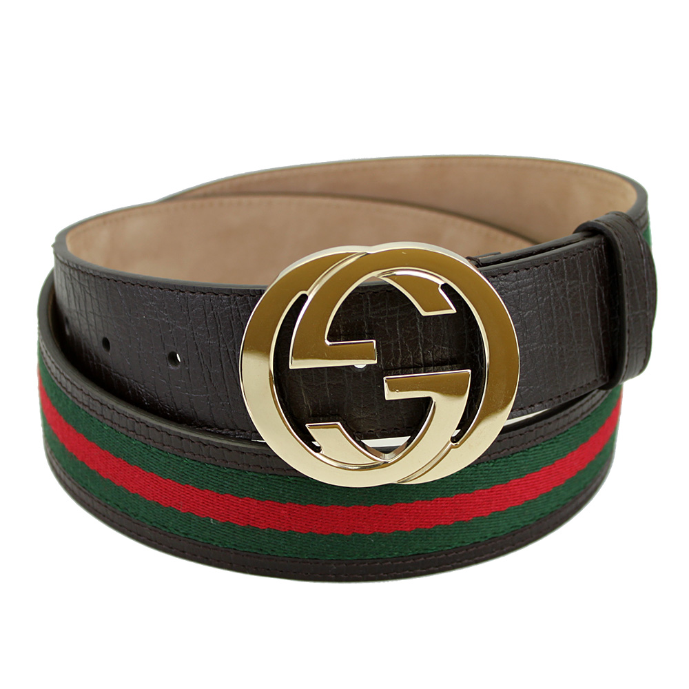 78c9e637231 Gucci men s belt interlocking G buckle 100 cm 40-inch brown   red   green  114876 H17AG P15Aug15