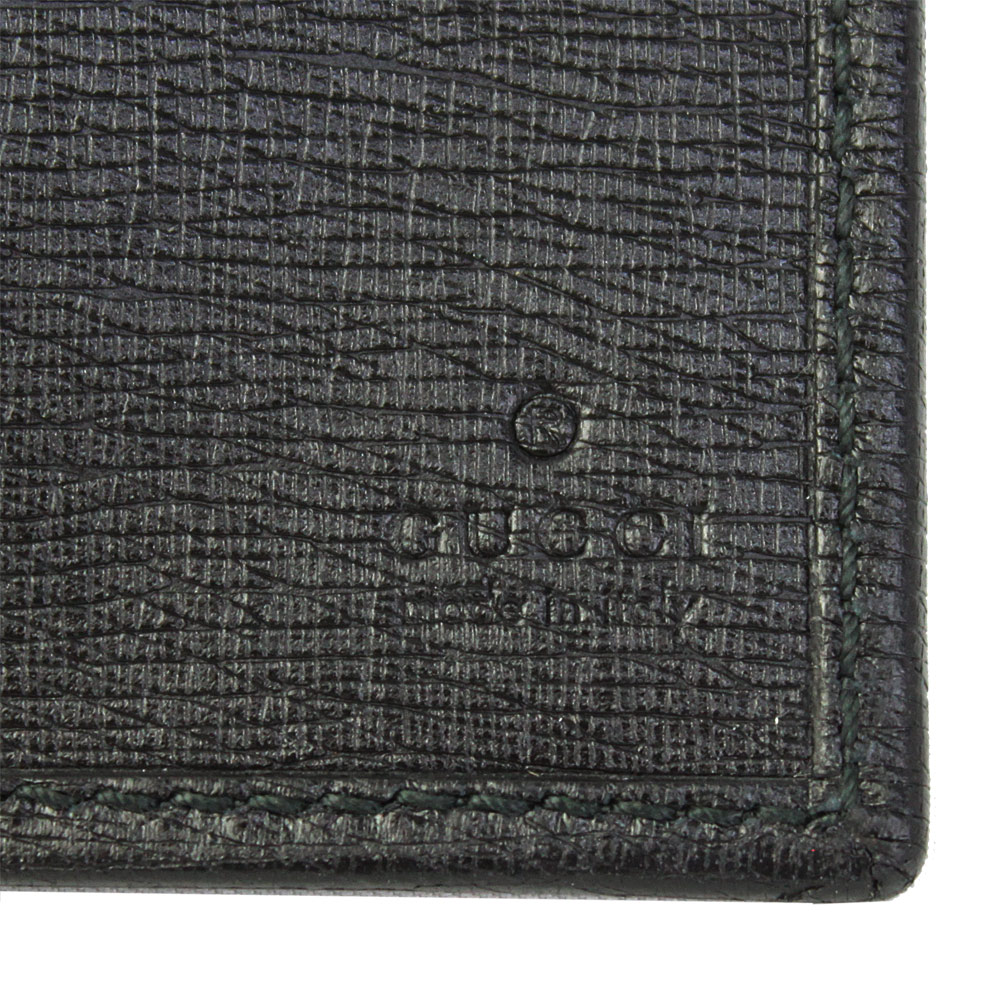 3705b14c44e Brand Shop Go Guys  Fold the two Gucci wallet mens black leather ...
