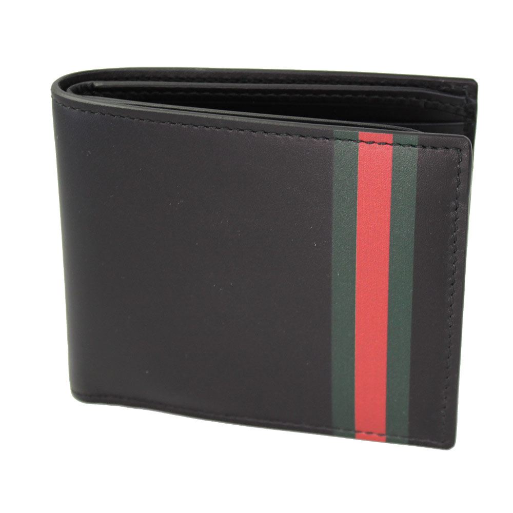 f23f4b06a77a Brand Shop Go Guys: Fold the two Gucci wallet mens black leather ...