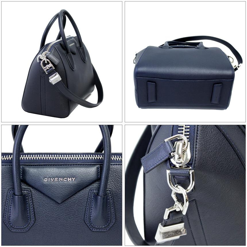 49b9a018bc0 ... Givenchy antigona small 2-WAY hand / shoulder bag-Dark Navy leather  BB05102012 ...