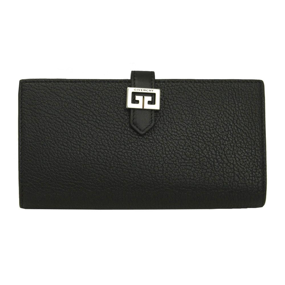 ジバンシー 財布 BB601LB032 GIVENCHY 二つ折り長財布 GV3 ロング ウォレット ゴートレザー ブラック BB601LB032 001