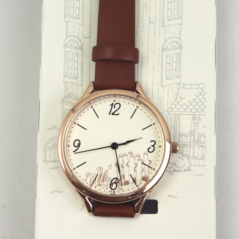MOOMIN ムーミン 腕時計 レディース ブラウン MOM-01-2 ベーシックレザー ニョロニョロ