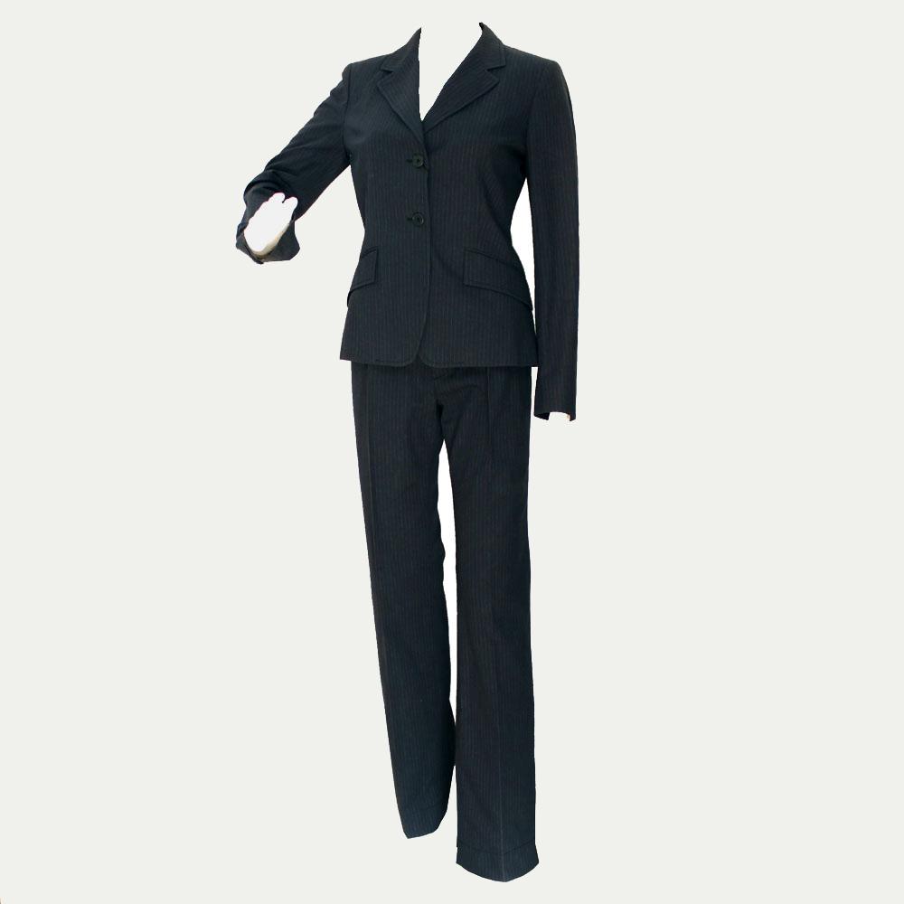 【中古】マックスマーラ ウィークエンド セットアップ スーツ ブルーグレー系 ジャケット パンツ 表記サイズ JI38 MAXMARA WEEKEND 新品同様 18082101