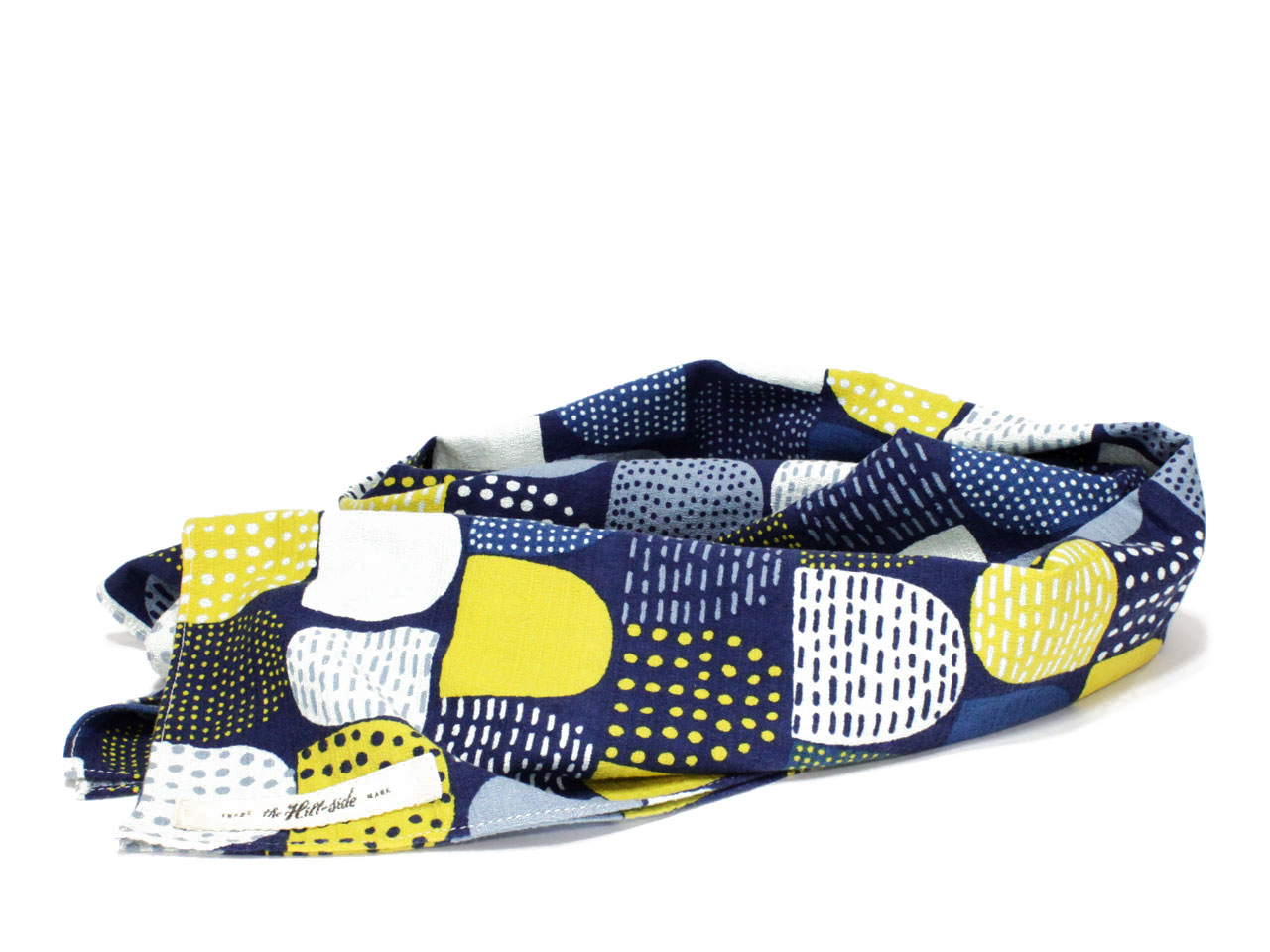 THE HILL-SIDE【ヒルサイド】LARGE SCARF *Mounds Absutract Print Blue/Yellow