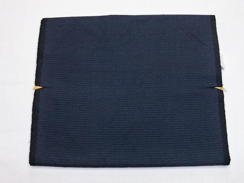 男のきもの《正絹韓国大島紬アンサンブル》亀甲大島(106山)の紺青(#220000-002)
