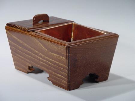 本桑(無垢材)角香炉(お焼香・回し焼香の香炉) 6寸