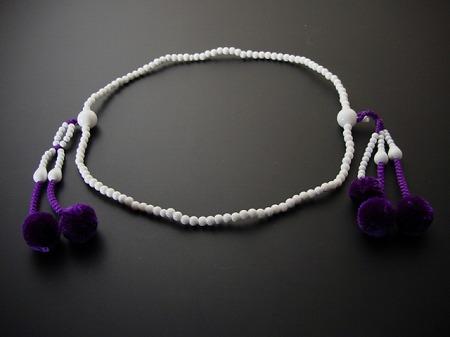 日蓮宗用本連(正式)数珠 しゃこ8寸 正絹菊房