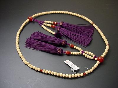 日蓮宗用本連数珠 星月菩提樹 尺 正絹装束紫紺房 メノウ入