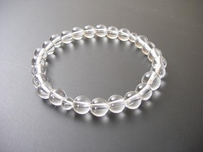 数珠・腕輪数珠/天然本水晶8mm球 (ブレスタイプ)