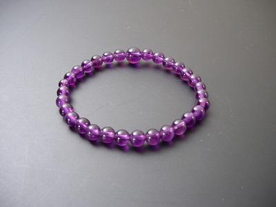 数珠・念珠・腕輪数珠/紫水晶(上級品) 6mm球(ブレスタイプ)