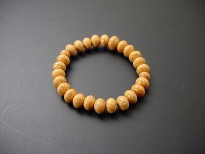 数珠ブレス 総天竺菩提樹 みかん球仕立 尺2玉