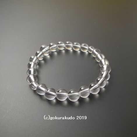 数珠ブレス 総天然本水晶 主玉(おもだま)8mm