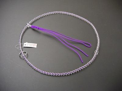 数珠 曹洞宗用 総水晶 尺 正絹紫紐房