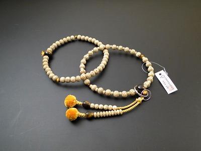 数珠 浄土宗・時宗用 8寸浄土 星月菩提樹 8点虎目石 菊房