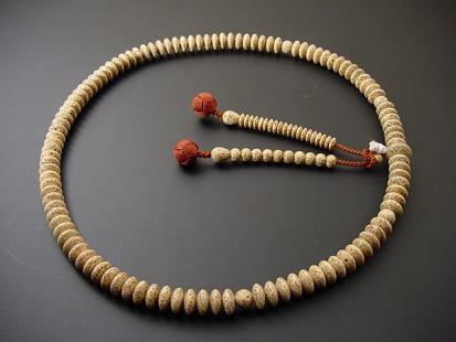 天台宗用本連(正式)数珠 総星月菩提樹 9寸 茶色利休房