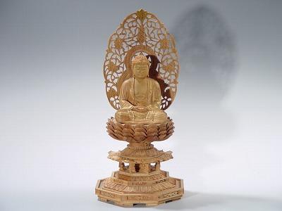 仏像 釈迦如来(座像) 2.5寸 総白檀