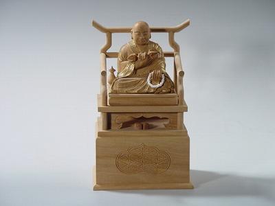 仏像・本尊/弘法大師像 1.8寸 総白檀