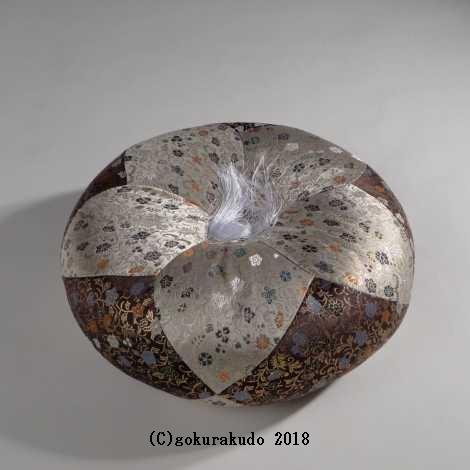 布団 (木魚・木柾・磬子用) 葵丸布団 12号 紫系色