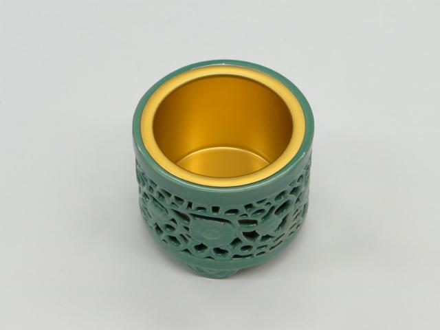 線香立て・香炉/(東本願寺専用)透かし香炉 4.5寸