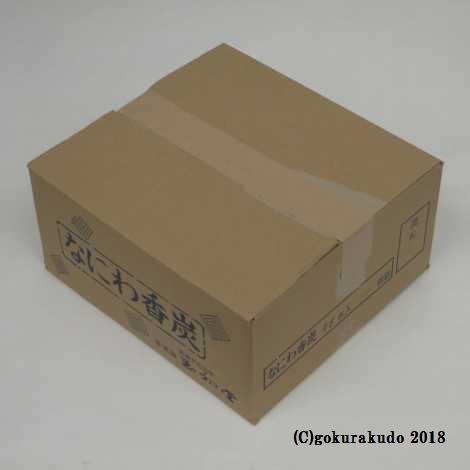 なにわ香炭(ご家庭向け平炭)ダンボール箱1ケース114箱入り
