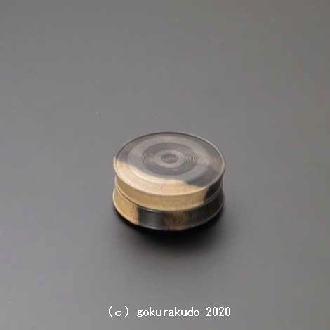 黒柿 鼓型香合 2寸(ネジ付き)-R