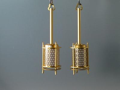 釣り(吊り)灯籠/超小型釣り灯籠カゴメ透かし