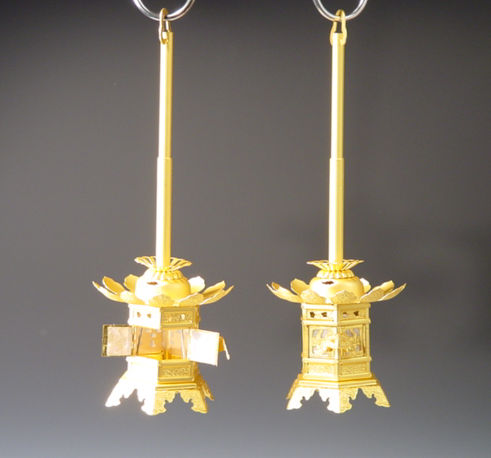 灯籠/金灯籠 1.5寸本金消しメッキ(東本願寺用)