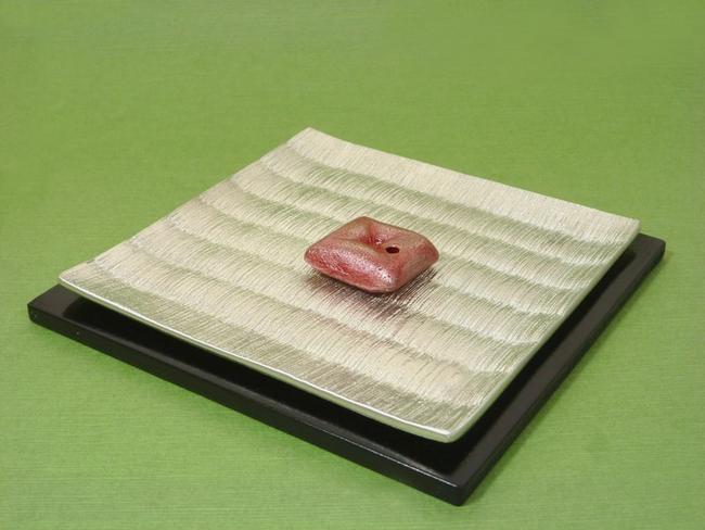 【お香立て】「TATAMI・OZABU」(畳・お座布団)伝統工芸品◆錫製香立て◇お香付き★京都・関崎製手作り香立て 高級香立て 錫の香立て 金属香立て